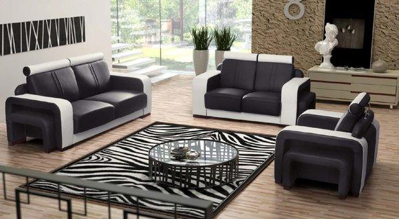 ledersofa 3 2 1 sitzer sofagarnitur fanelli. Black Bedroom Furniture Sets. Home Design Ideas