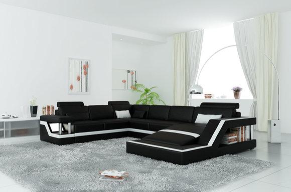 Designer big ledersofa wohnlandschaft online for Designer wohnlandschaft