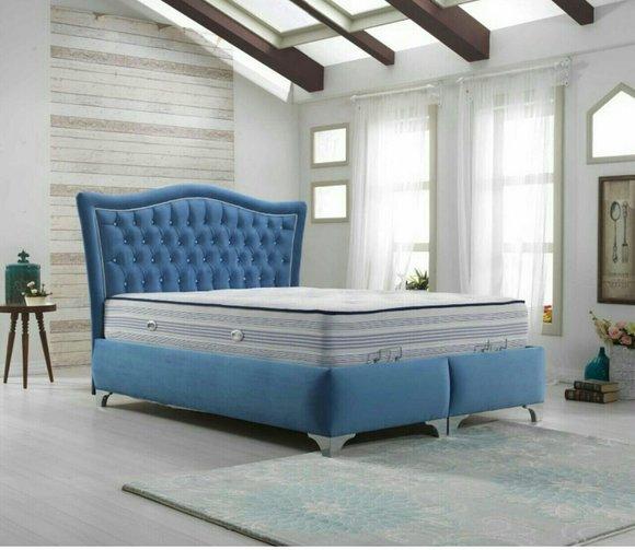 chesterfield bett polsterbett doppelbett betten big xxl designer luxus bett neu - Doppelbett Luxus