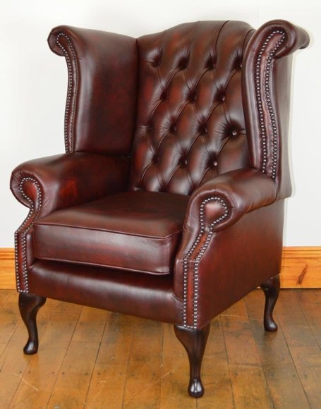 Chesterfield sessel ohrensessel ledersofas queen for Ohrensessel leder