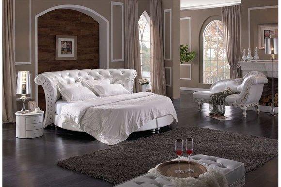 schlafzimmer betten leder kreative deko ideen und