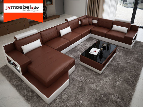 ledersofa ecksofa wohnlandschaft xxl sofa leder. Black Bedroom Furniture Sets. Home Design Ideas
