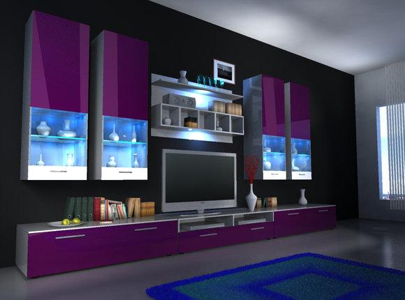 Moderne Wohnwände und wie Designer Wohnwand Alfa II von JV Möbel