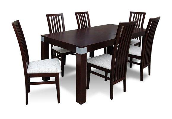 essgruppe mit tisch und st hlen wie esszimmerset z05 von jv m bel. Black Bedroom Furniture Sets. Home Design Ideas