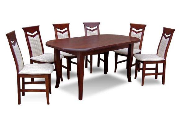 essgruppe mit tisch und st hlen wie esszimmerset z19 von jv m bel. Black Bedroom Furniture Sets. Home Design Ideas