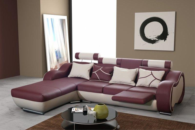 designer ledersofa sofa couch mit fu st tze barfunktion wohnlandschaft. Black Bedroom Furniture Sets. Home Design Ideas