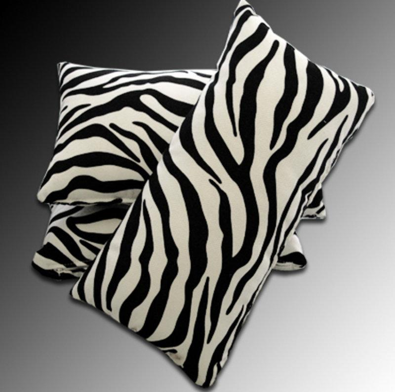 designer deko kissen zebra. Black Bedroom Furniture Sets. Home Design Ideas