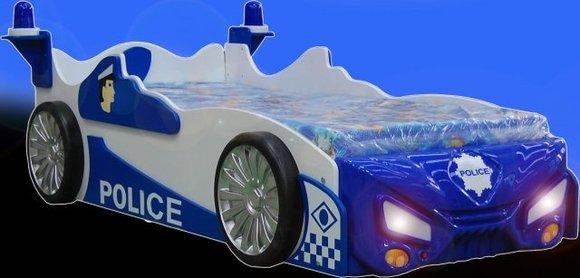 kinderbett mit matratze jugendbett auto polizei auto. Black Bedroom Furniture Sets. Home Design Ideas