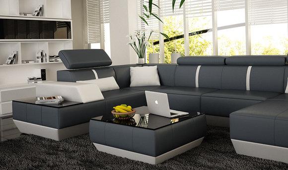 couchtisch und clubtisch tisch le mans design ledertisch kaufen. Black Bedroom Furniture Sets. Home Design Ideas