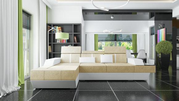 sofas und ledersofas le mans i bettfunktion designersofa ecksofa jv m bel. Black Bedroom Furniture Sets. Home Design Ideas