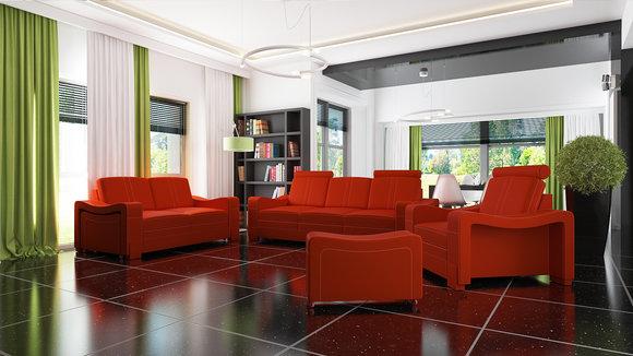 jvmoebel ledersofa ledergarnitur mit optional verstaubaren hockern. Black Bedroom Furniture Sets. Home Design Ideas