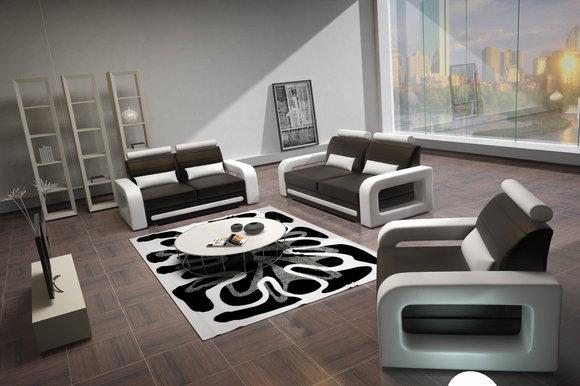 jvmoebel ledersofa sofagarnitur davos 3 2 1 sitzer nb. Black Bedroom Furniture Sets. Home Design Ideas