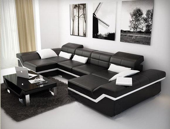 ledersofa xxl sofa ecksofa wohnlandschaft new york v. Black Bedroom Furniture Sets. Home Design Ideas