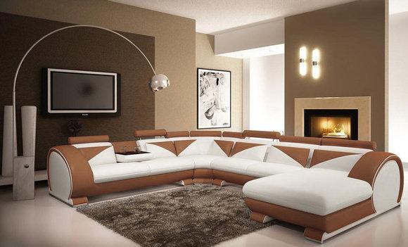 Jvmoebel ledersofa big ecksofa vigo u form chaise nb - Wohnideen wohn und schlafzimmer ...