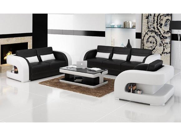 sofas und ledersofa bergamo 3 2 1 designersofa. Black Bedroom Furniture Sets. Home Design Ideas