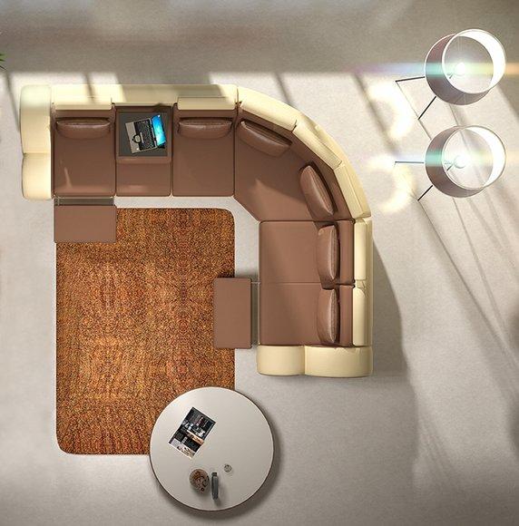 jvmoebel ledersofa design ecksofa madrid mit relaxfunktion. Black Bedroom Furniture Sets. Home Design Ideas