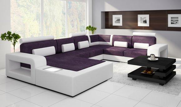 Sofas und ledersofas h2209 bettfunktion designersofa for Ecksofa 499 euro