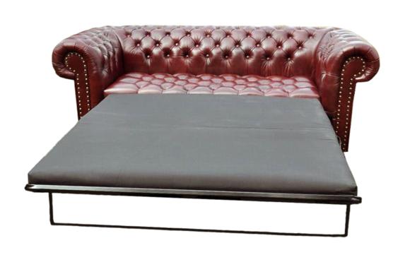 Chesterfield 3 Sitzer mit Bettfunktion Sofa Couch Polster Garnitur ...