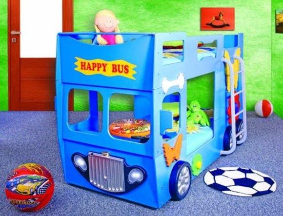 Doppelstockbett stockbett mit matratze bett doppelbett - Kinderbett bus ...