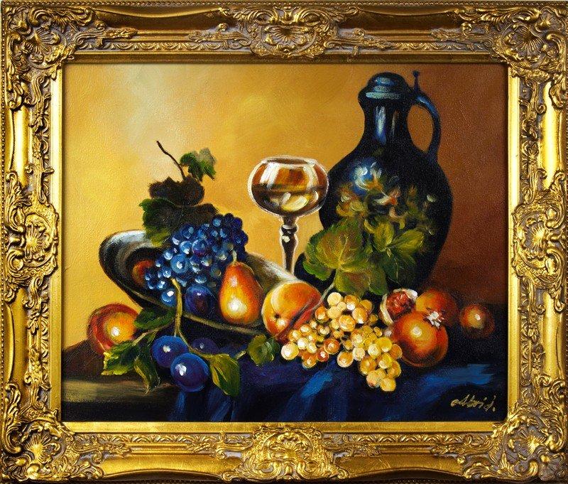 "Gemälde ""Obst "" Handarbeit Ölbild Bild Ölbilder Rahmen Bilder G16205"