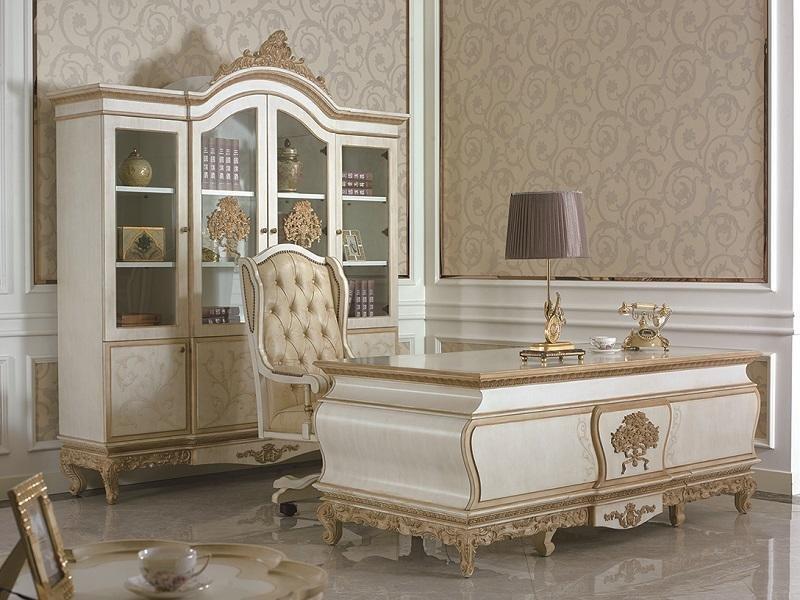 Schreibtisch Büro Tisch Klassischer Designer Office Tische Barock Rokoko E67 Neu