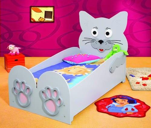 Kinderbett mit Matratze 'Katze'