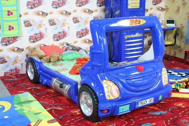 Autobett 'Truck' in vier Farben