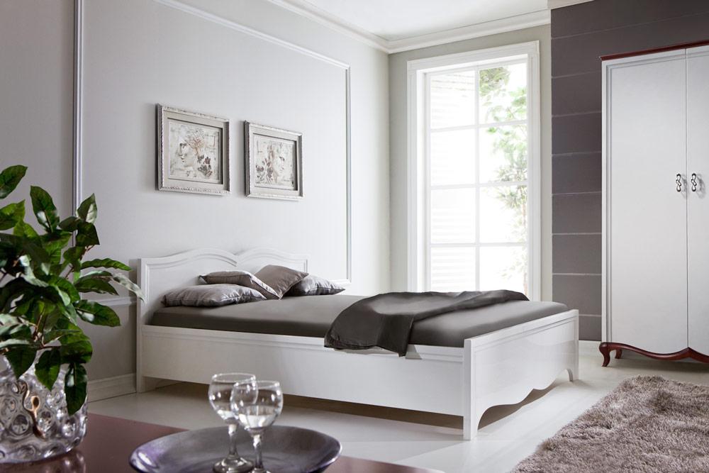 Doppelbett Milano Klassik Bett Betten Ehe Schlafzimmer Holz Designer Neu  MI 2