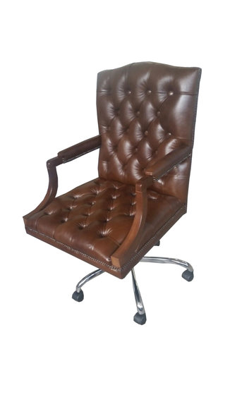 Chesterfield Bürostuhl Drehstuhl Büro Sessel Ledersessel KING Drehsessel Neu