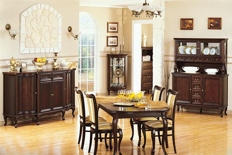 Klassisches 12 Set Esszimmer Vitrine Kommode Stühle Tisch Chippendale  Wohnzimmer