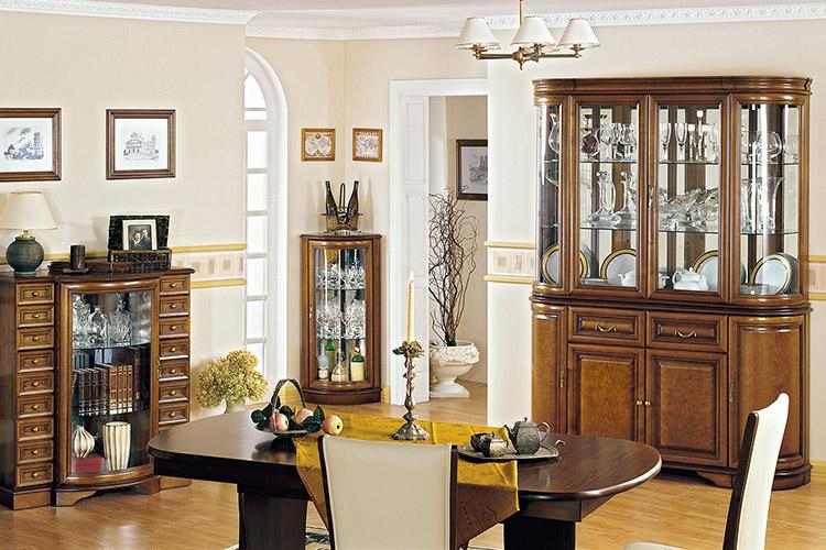 Wunderbar Komplett Wohnzimmer Vitrine Kommode Tisch Vitrinen Esszimmer Set 4 Teilig