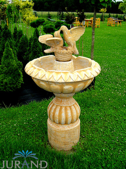 springbrunnen font ne zierbrunnen garten 1017 deko brunnen 125 cm steinguss. Black Bedroom Furniture Sets. Home Design Ideas