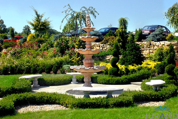 Springbrunnen Fontäne Zierbrunnen Garten 1029 Deko Brunnen ...