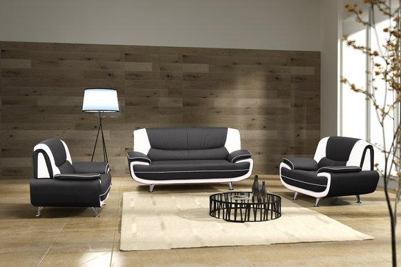 jvmoebel pu ledersofa sofagarnitur palermo 3 2 1 sitzer ch. Black Bedroom Furniture Sets. Home Design Ideas