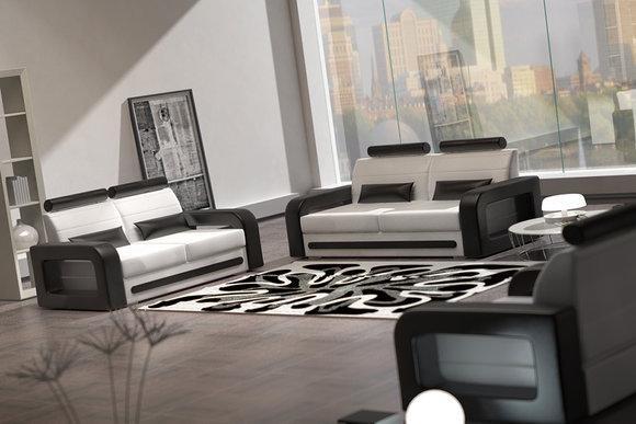 Ledersofa Sessel Lounge Fernsehsessel Couch SOFORT LIEFERBAR Sofagarnitur  Neu