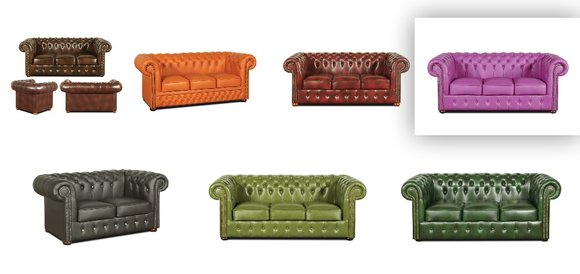 Chesterfield Sofa 3 Sitzer Ledersofa Vintage Couch