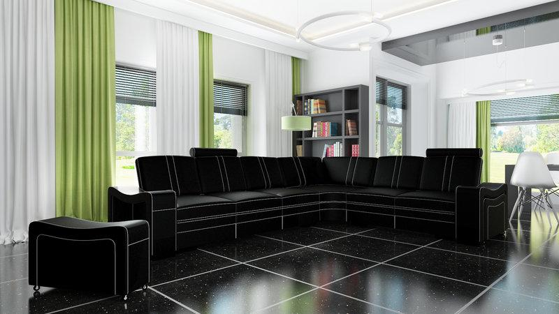 sofas und ledersofas franco designersofa ecksofa bei jv. Black Bedroom Furniture Sets. Home Design Ideas