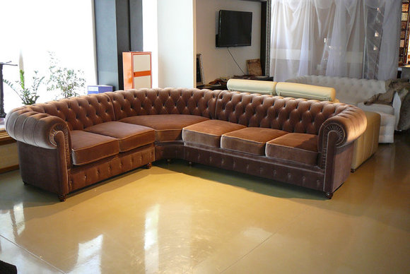 Chesterfield Sofa Stoff ~ Chesterfield sofa sitzer emma grau couch lounge samt stoff