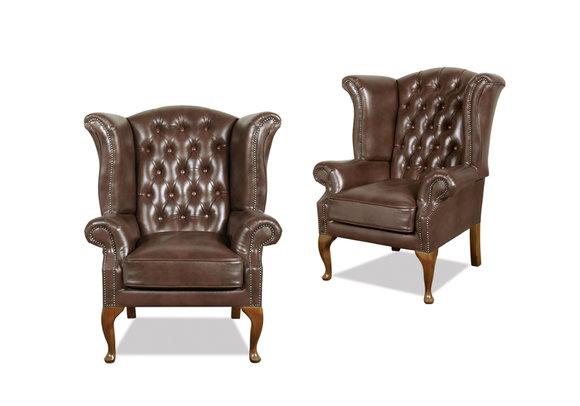 chesterfield sessel ohrensessel ledersofas queen 26. Black Bedroom Furniture Sets. Home Design Ideas