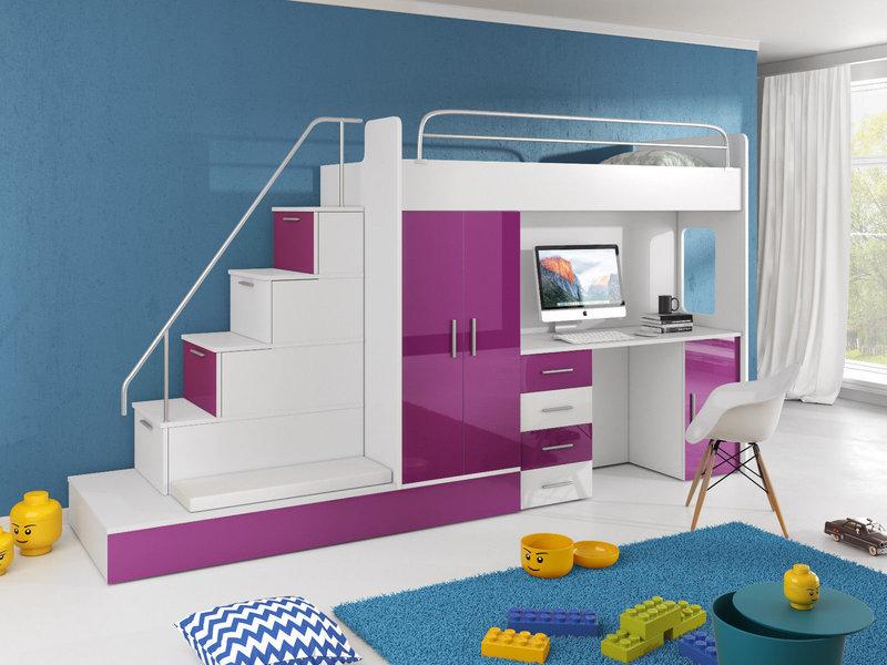 Etagenbett Mit Schreibtisch Und Kommode : Doppelstockbett stockbett bett etagenbett mit schreibtisch