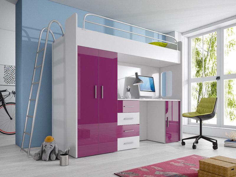 Etagenbett Mit Schreibtisch Und Schrank : Doppelstockbett stockbett bett etagenbett mit schreibtisch