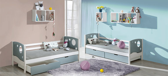 kinderbett jugendbett bettkasten bett kiefer kinderzimmer betten neu kevin. Black Bedroom Furniture Sets. Home Design Ideas