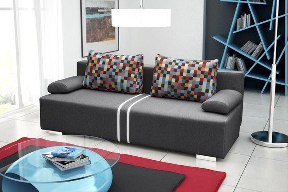 schlafsofa 3 sitzer mit bettkasten sitzer schlafsofa. Black Bedroom Furniture Sets. Home Design Ideas