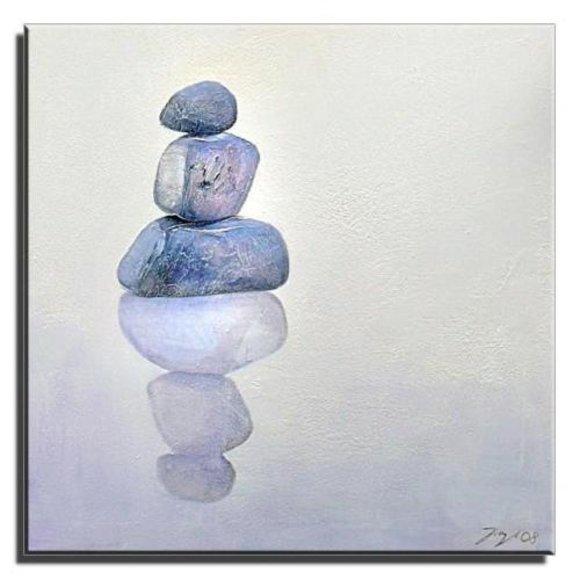 Gemälde Ölbild Bild Ölbilder Rahmen Bilder Feng Shui G01665