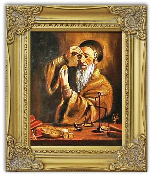 Ölbild Ölbilder Gemälde Bilder Bild Handgemalt Öl mit Rahmen Barock G04232