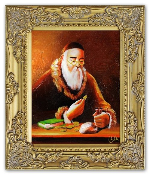 Ölbild Ölbilder Gemälde Bilder Bild Handgemalt Öl mit Rahmen Barock G01779