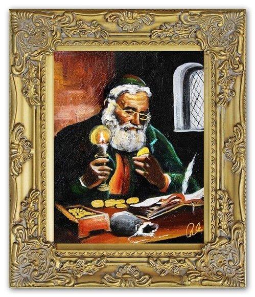Ölbild Ölbilder Gemälde Bilder Bild Handgemalt Öl mit Rahmen Barock G01488