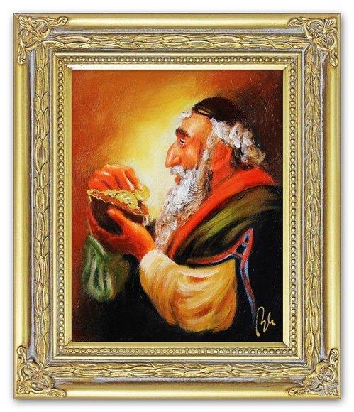 Ölbild Ölbilder Gemälde Bilder Bild Handgemalt Öl mit Rahmen Barock G06514