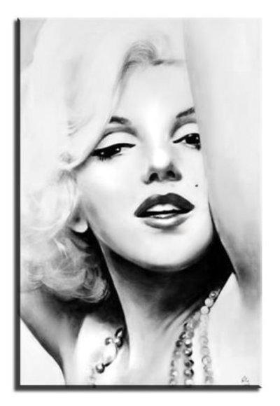 Details zu Portrait marilyn monroe Sexy Echte Handarbeit Rahmen Öl Gemälde Bilder G00775