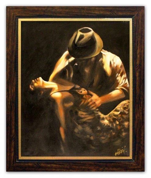 Ölbild Echte Handarbeit Bild Bilder Gemälde mit Rahmen Direkt vom Künstler 96728